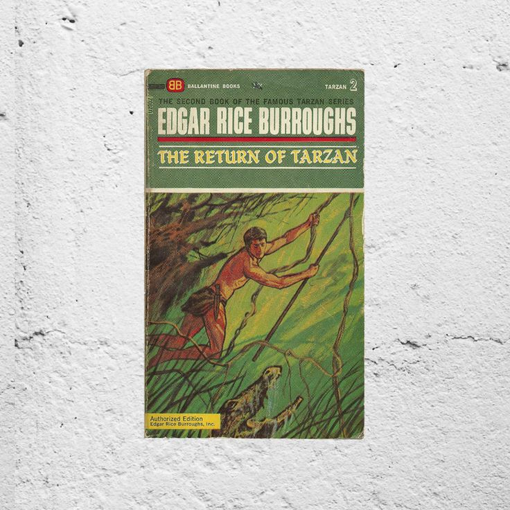 Tarzan Novel | The Return of Tarzan Second Book of the Famous Tarzan Series | 1960s Vintage Book by Burroughs | 60s Jungle & Adventure Story