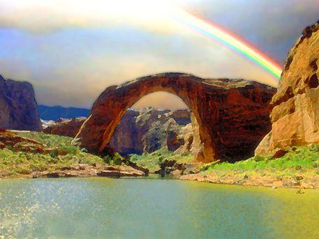 'Rainbow Bridge Utah USA' von Dirk h. Wendt bei artflakes.com als Poster oder Kunstdruck $18.03