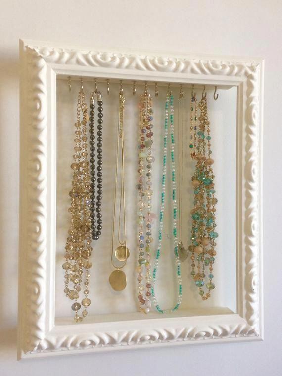 Jewelry Organizer Shabby Chic Decor Storage Necklace Hanger Holder Jewel Jewellery