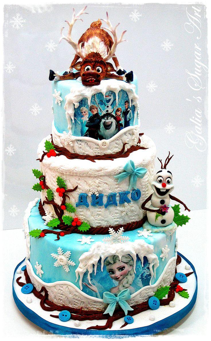 """Frozen"" Cake.  by GaliaHristovaGuGi.  Amazing!"