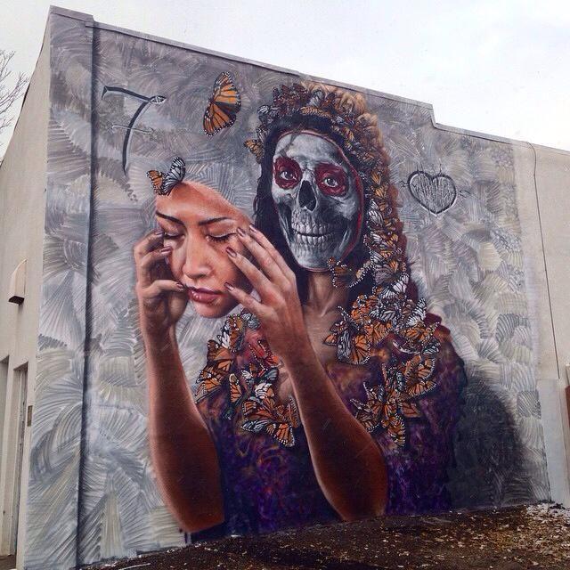 Dia de los muertos mural by gamma gallery a very talented for Dia de los muertos mural