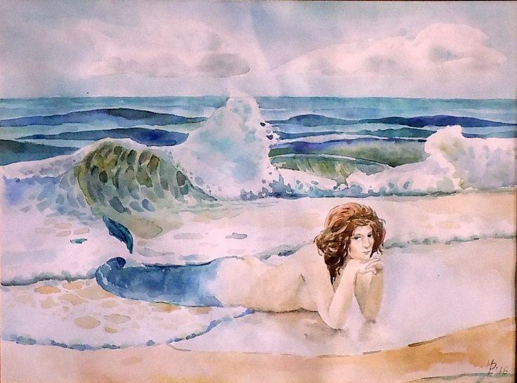 mermaid. 30х42. Repina N.  #Watercolor30х42