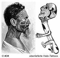 Hals-Tattoos der Rapa Nui