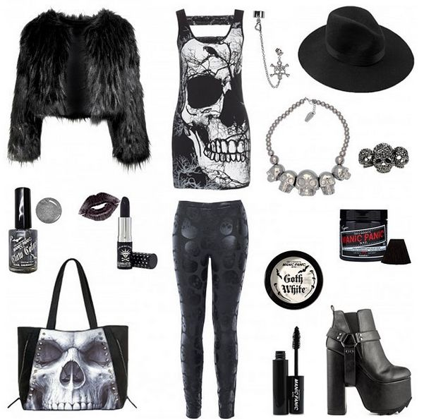 SKULLZ! Outfit inspiration.