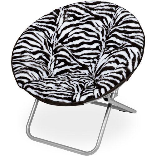 Microplush Saucer Chair, Zebra Print