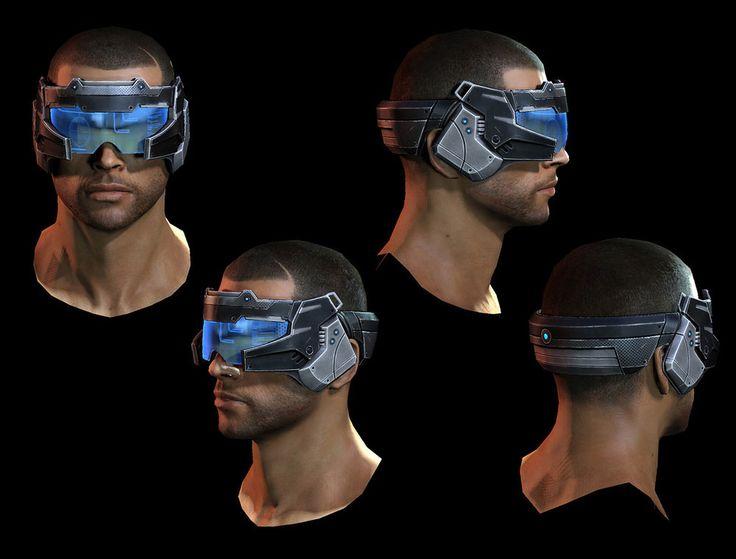 Visor Goggles Tech Computer Shepard Amp Headgear Cyber