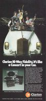 Clarion Hi-Way Fidelity Series 1978 Ad Picture