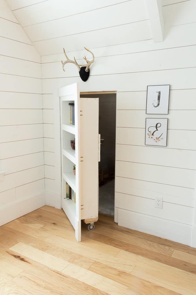 DIY verstecktes Tür-Bücherschrank #bucherschrank…
