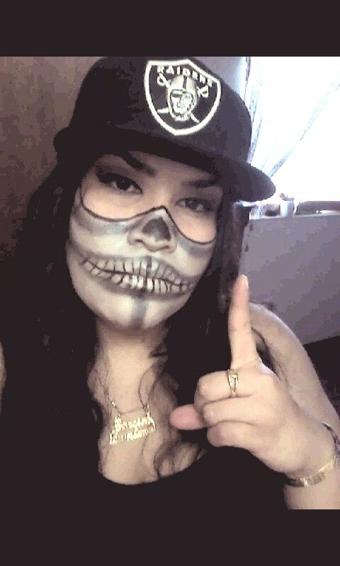 Oakland Raiders Face Paint