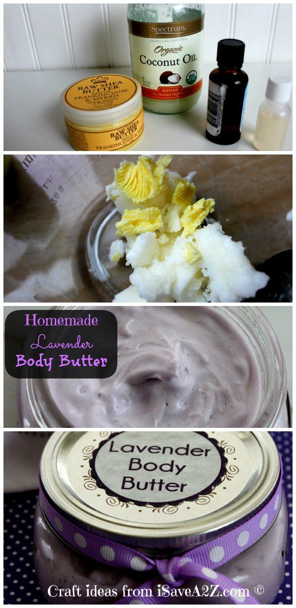 Homemade Body Butter Cream Recipe (Lavender) - iSaveA2Z.com