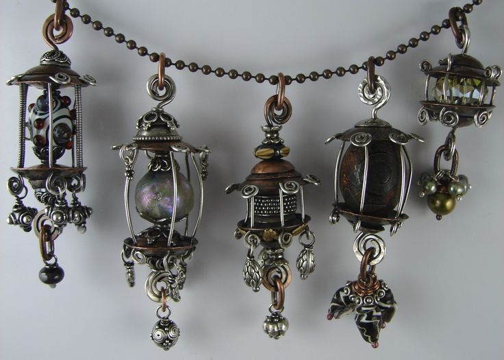 janice berkebile - caged beads pendants