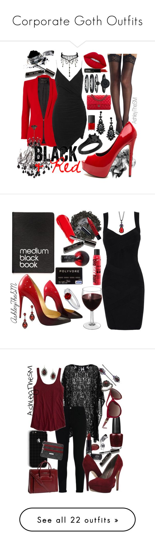 """""""Corporate Goth Outfits"""" by ashleythesm on Polyvore featuring Commando, Lime Crime, Barbara Bui, Bobbi Brown Cosmetics, Topshop, James R. Moder, Chanel, Anne Klein, NARS Cosmetics and Lord & Berry"""