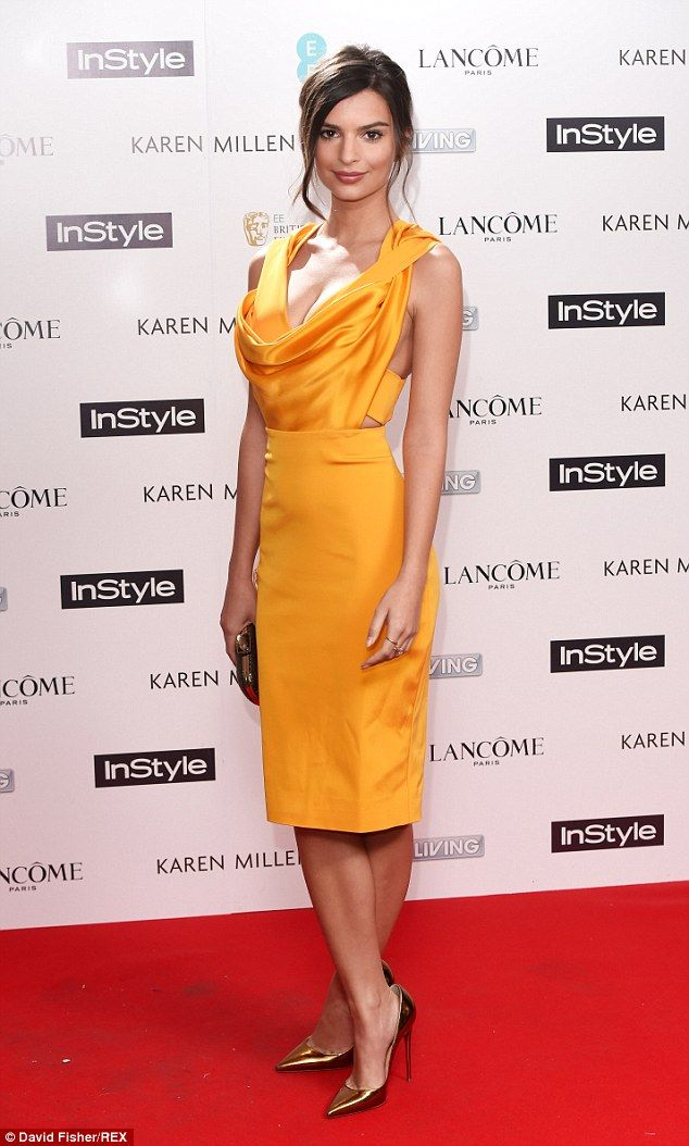 Exclusive: Gone Girl star Emily Ratajkowski talks to MailOnline about sex scenes, modelling and THAT Blurred Lines video | Be mellow in yellow with Emily's Cushnie Et Ochs dress