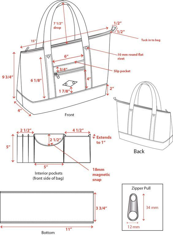 e711b209721 CADs of bags and wallets that were put into production | Cloth ...