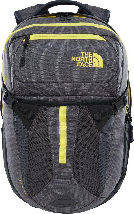the north face recon rugzak - unisex - asphalt grey white heather