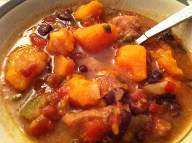 Lean pork, fresh sweet potatoes, canned black beans and traditional Cuban flavors blend beautifully in your slow cooker. Tried and liked...a lot.