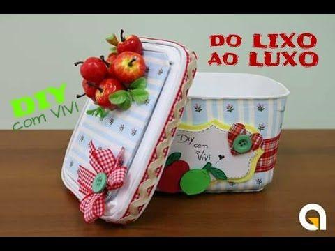DIY DO LIXO AO LUXO/ ABAJUR DECORATIVO COM POTINHOS DE IOGURTE/ DIY ROOM DECOR - YouTube