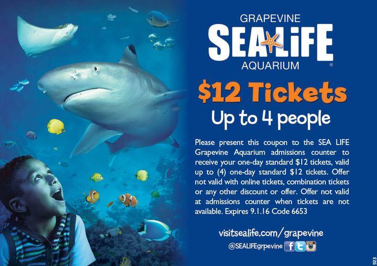 Sea life discount coupon