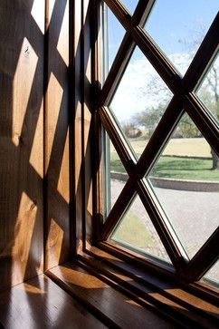 Beautiful diamond pane windows: Windsor Pinnacle clad with alder interior. www.windsorwindows.com.
