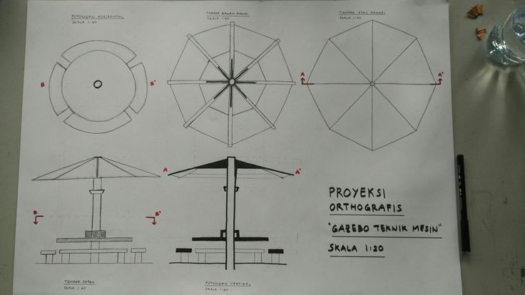 [Orthographic Projection]  Gazebo Teknik Mesin. February 2017
