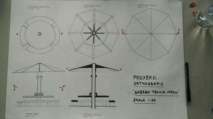 [Orthographic Projection]  Gazebo Teknik Mesin. February 2017