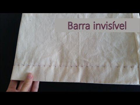 Como fazer barra invisível à máquina - YouTube
