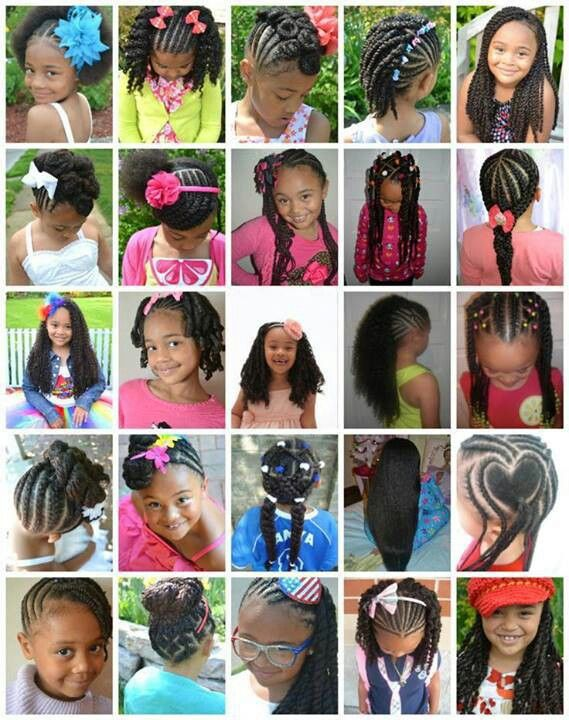 Tremendous 1000 Images About Aa Hair Styles Little Girls On Pinterest Short Hairstyles For Black Women Fulllsitofus