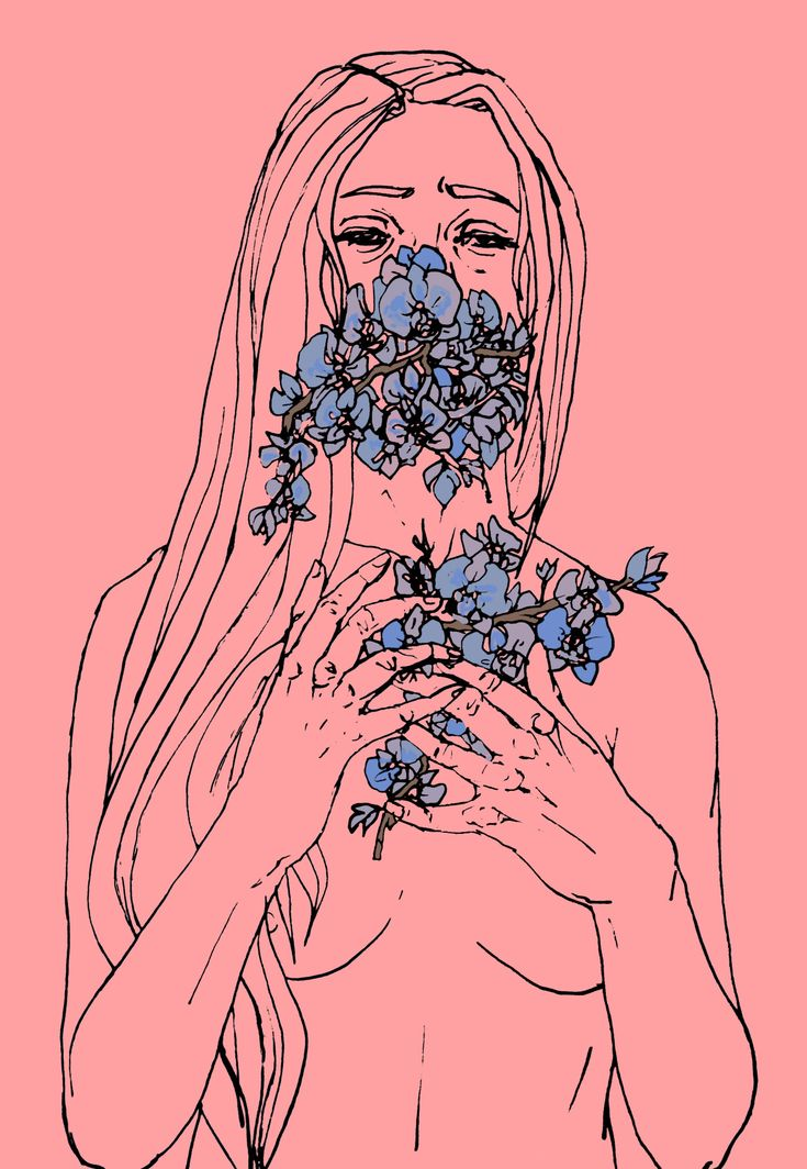 Orchids II. Andy Freire. Ink and digital color. Follow on tumblr and instagram.