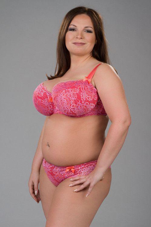 Ewa Michalak  Pl Orange  Mum  Curvy Girl Lingerie, Sexy -3360