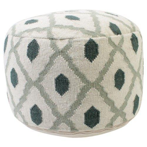 Poef met hip Marokkaans patroon van het huismerk van Loods 5.