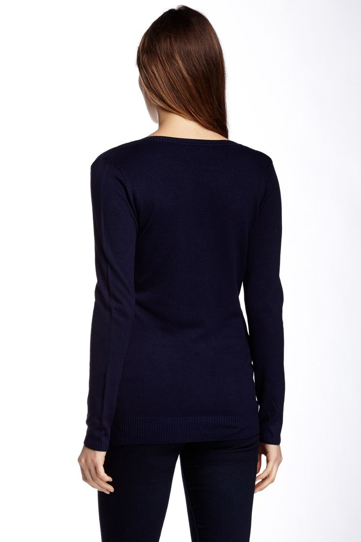 V-Neck Pullover Sweater by Sweet Romeo on @nordstrom_rack