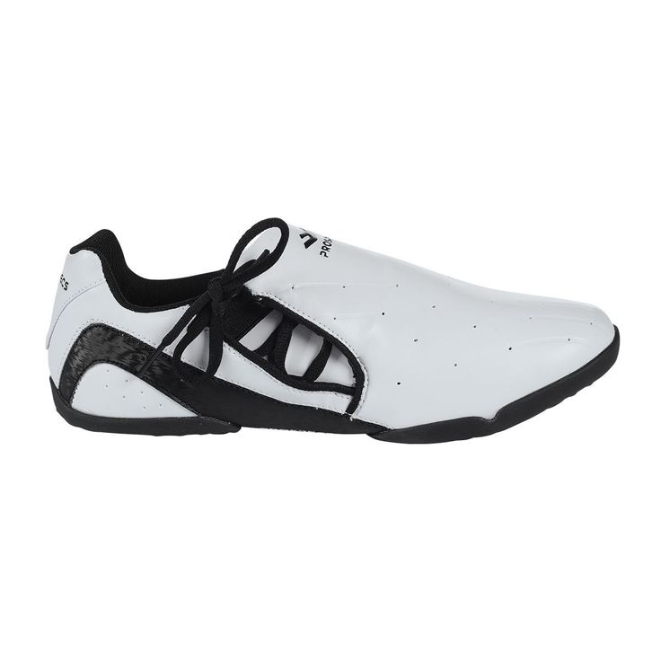 PROSPECS  Lace-Up Shoe. These leather taekwondo shoes by ProSpecs are great for martial arts work on the mat. Shoes lace up the sides, with sole specifically designed to provide traction on the mat.