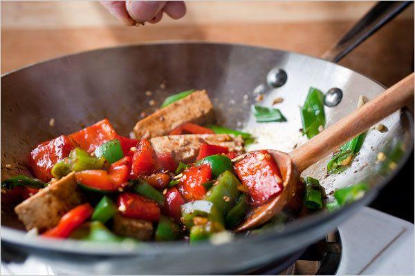 This attractive stir-fry is inspired by a traditional Chinese dish called rainbow beef The vegetarian version works well, and it's also easier to make If you prefer a very firm tofu, take the extra time to weight it as directed in step 1