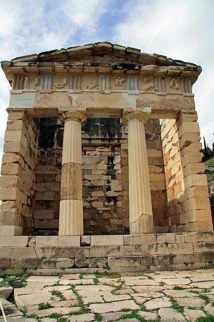 Delphi, Greece - Athenian Treasury