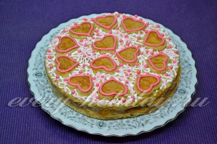 Торт из песочного теста с мандаринами