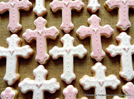 Cross Cookie favors for baptisms, communion, christenings, dedication or other spiritual events.