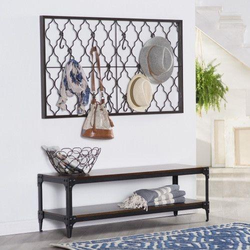 Belham Living Trenton Indoor Bench with Storage Shelf