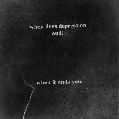 """""""When does it stop?"""" When you let your demons win"""