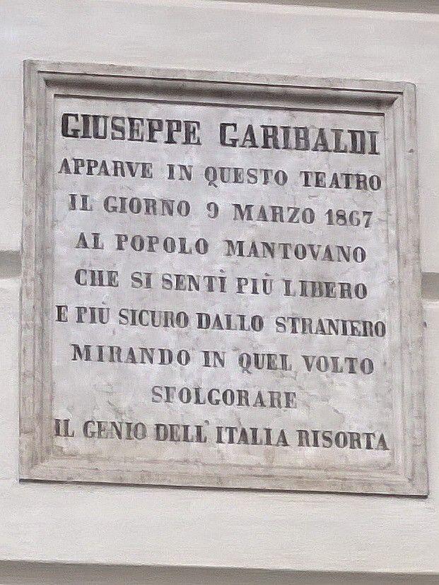 Giuseppe Garibaldi a Mantova (teatro Sociale)