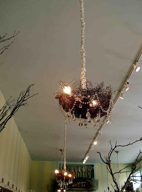 Nest chandelier in Nest, on Fillmore St., SF