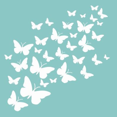 12 x 12 butterfly pattern template / stencil for от ThePaperTreeCo