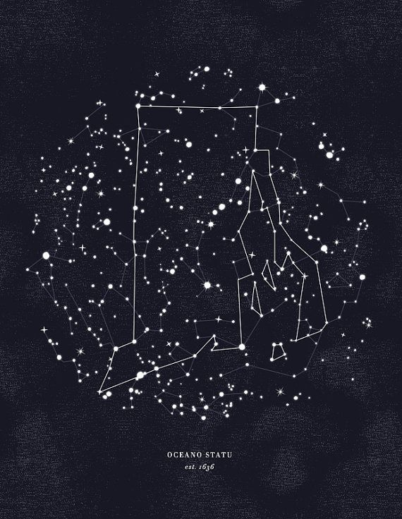 Michigan Constellation 11x14 Print by AlisaBobzien on Etsy