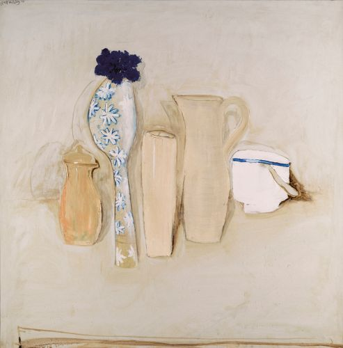 BRETT WHITELEY 1939-1992 Still Life with Cornflowers 1976