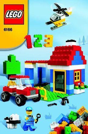 Lego instructions for 6166 lego set (blue box)