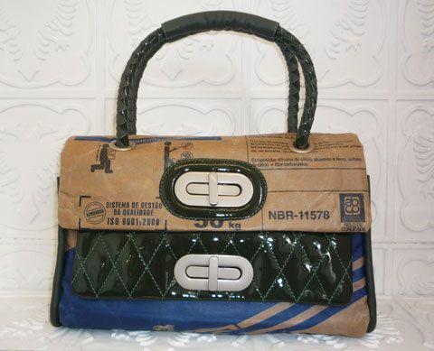 Sacos de cimento viram bolsas à venda na Cavalera | Chic - Gloria Kalil: Moda, Beleza, Cultura e Comportamento