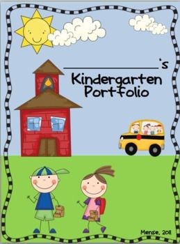 Kindergarten Portfolio and Memory Book TPT $10 ... This is adorable, would be a great item to use when assessing!