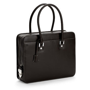 London Ladies Business & Laptop Bag in Smooth Black - Aspinal of London