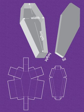 Completely custom sized template for a Coffin - I found a link to a site where you can create custom box templates and cone templates! The cone one works great for all those tricky mugs everyone is working on.