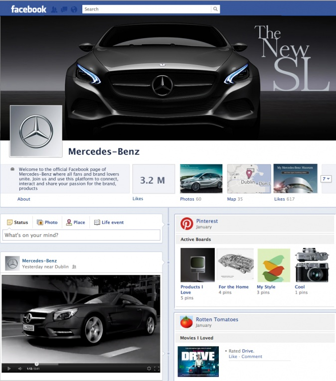 Mock-ups of what Facebook's Timeline Brand Pages could look like from Simply Zesty.