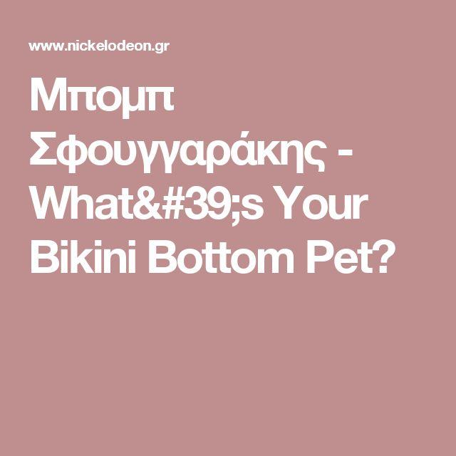 Μπομπ Σφουγγαράκης - What's Your Bikini Bottom Pet?